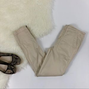 J. Crew Skinny Stretch Pants with Zippers